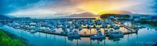 Cordova harbor, pano of Cordova harbor, safe harbor, safe haven