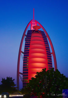 exterior of the Burj al Arab