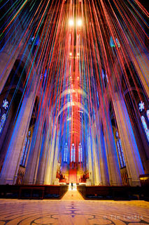 Grace Cathedral, stained glass with matching ribbons