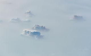 Alaska, icebergs in fog