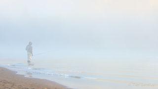 Eyak river, alone, calm, dawn, fisherman in the fog, fly fisherman, fog, inner self, inner thoughts, peace, rising sun, serenity, silver salmon, solitude