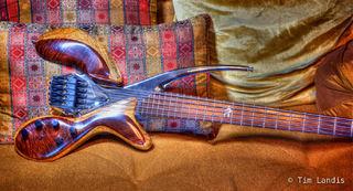 Spalt bass with optical pickups, Koa wood