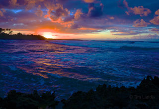 Hawaii, Sunset at Turtle Bay