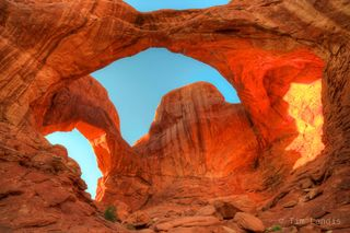 Arches NP, Moab, Utah, double arch