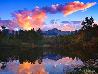 San Juans, Sunset, colorado, radiant cloud formation