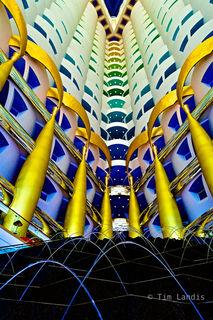 Dubai, lobby of the 7 star hotel