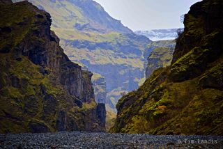 canyon, river, Iceland