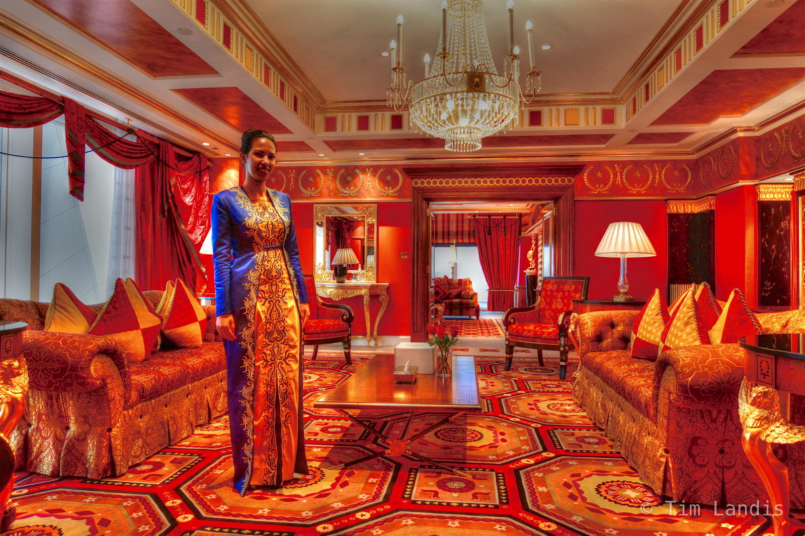 Burj al Arab, Dubai, The 7 star hotel living room, photo