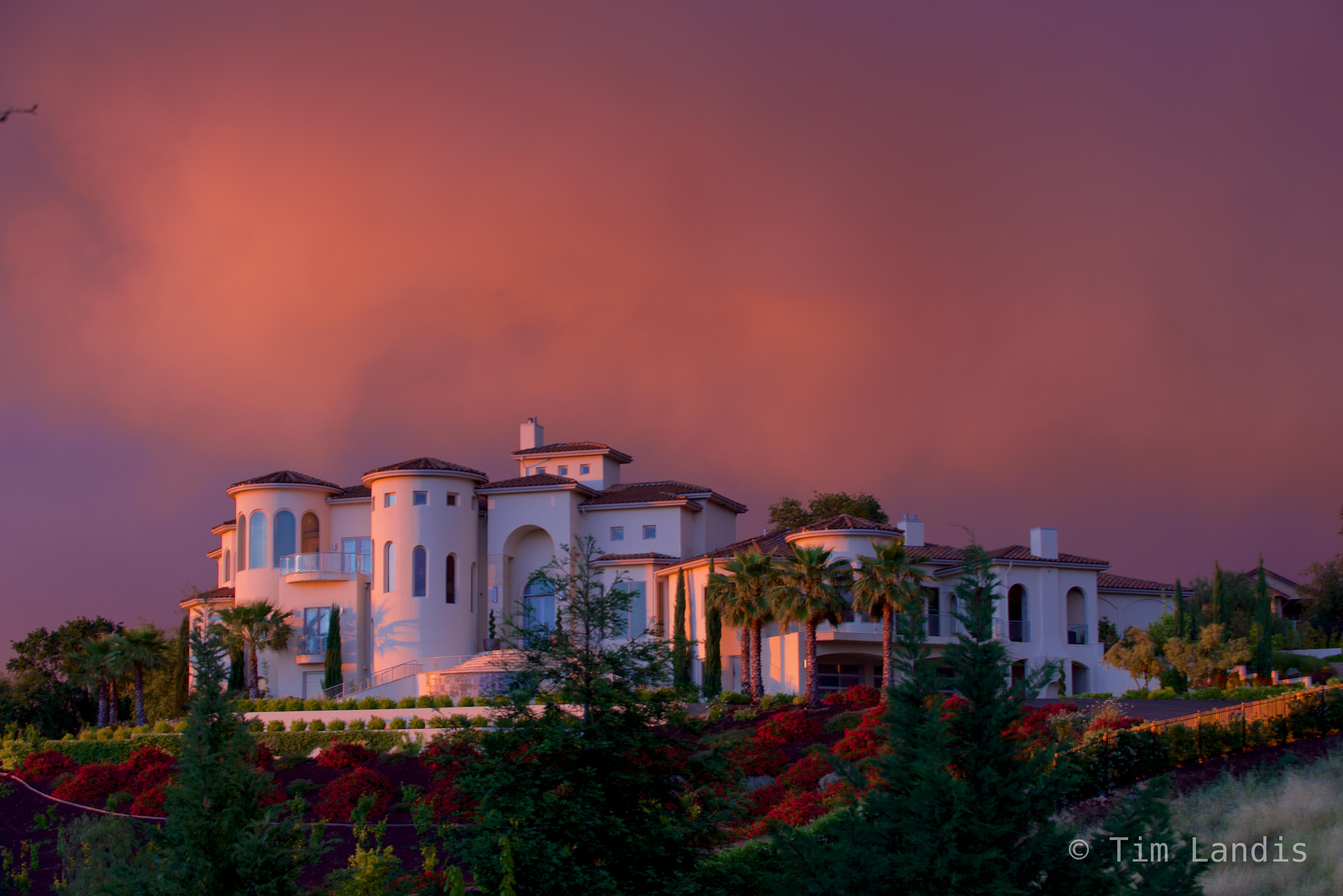 The house on the hill, sundown, , photo