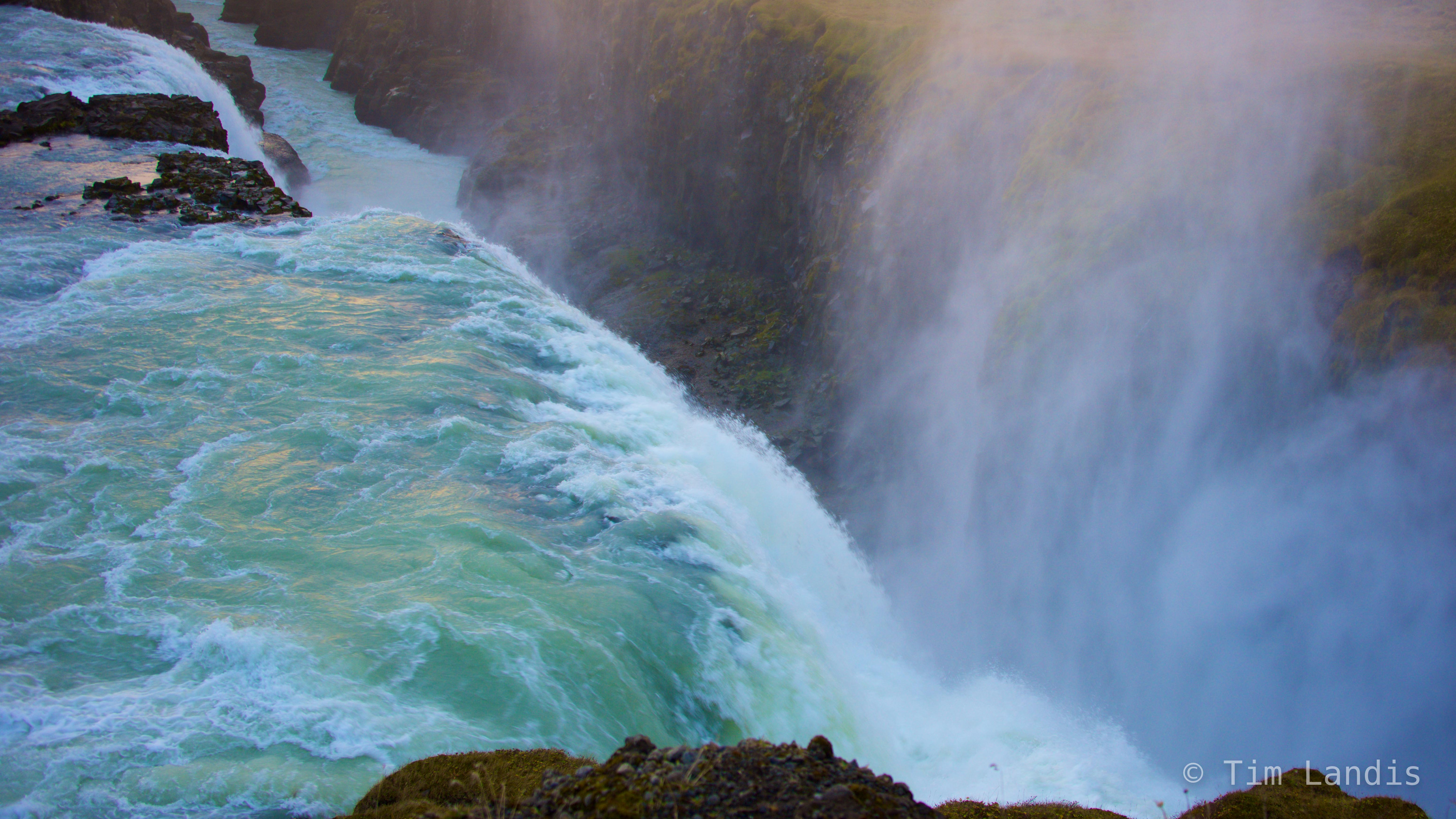 Gullfoss, Iceland, mist, reflections, roaring waters, photo