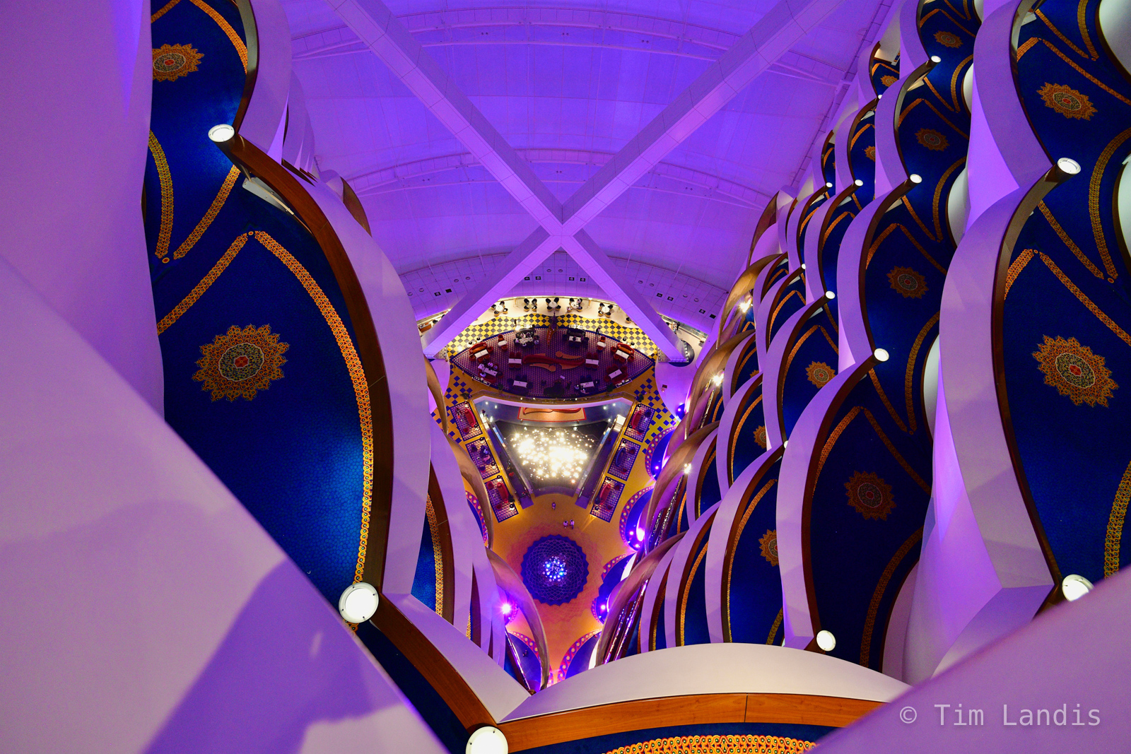 7 star hotel lobby, Burj al Arab, Dubai, photo