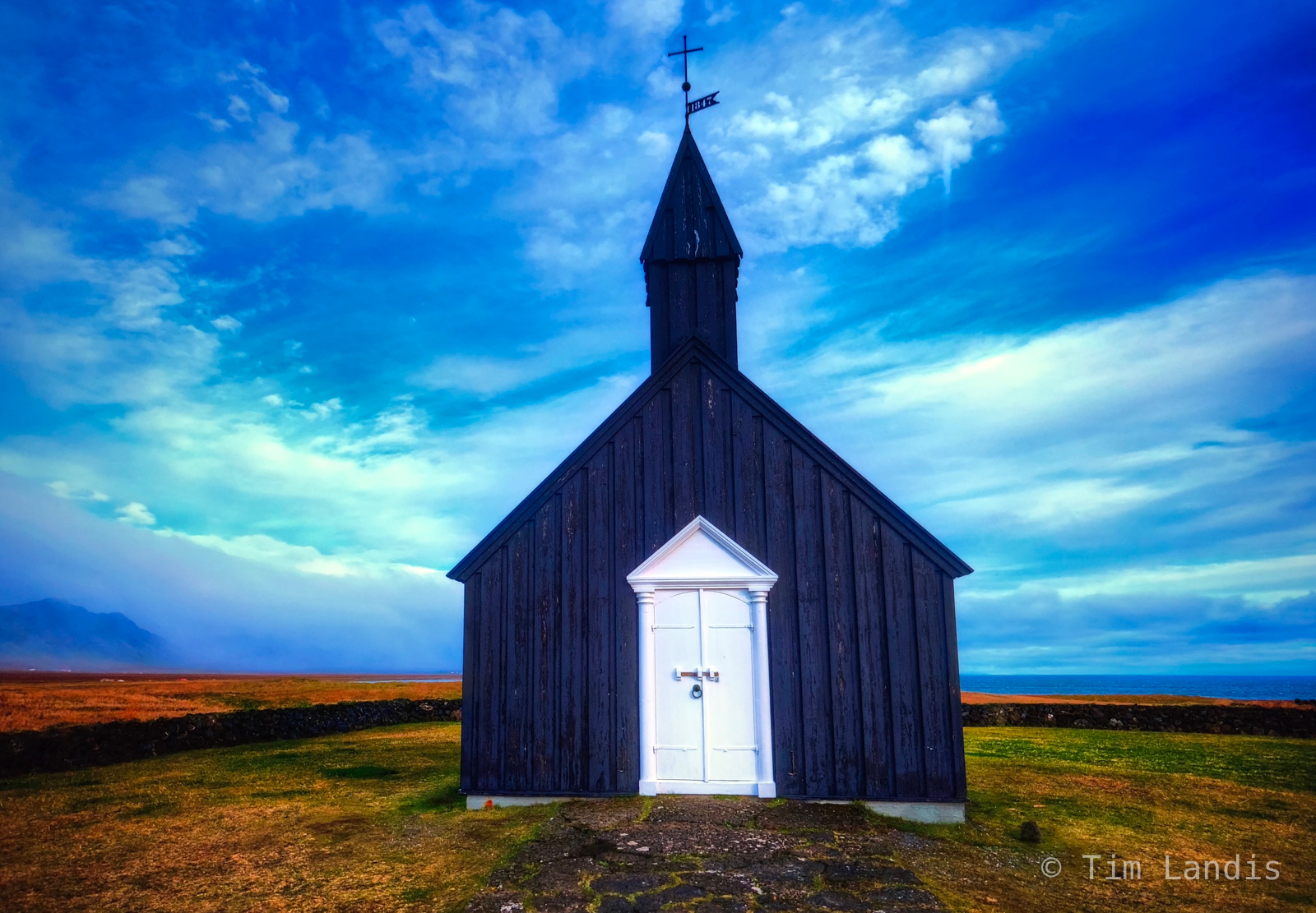 The Black Church with white door