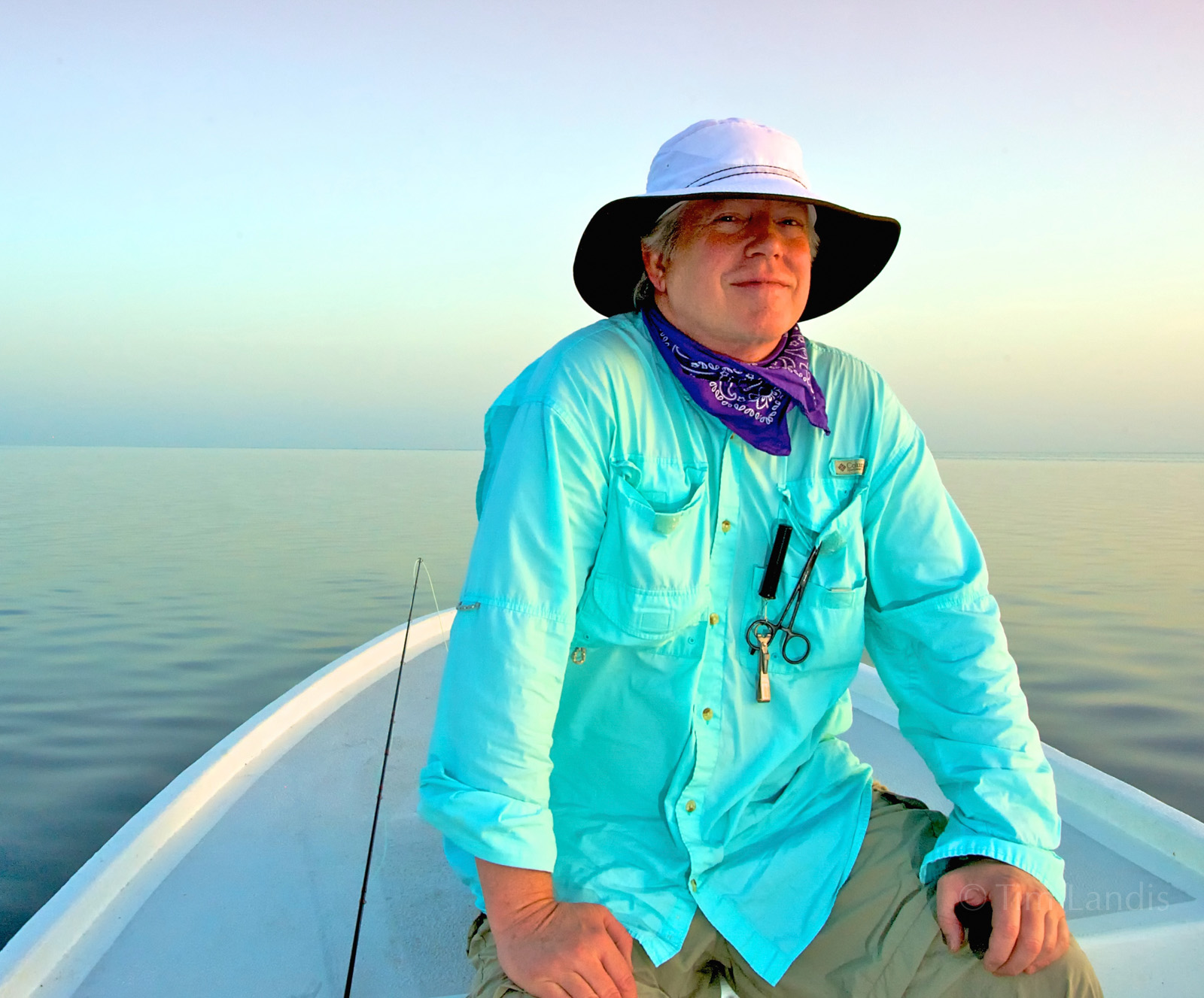 out before the brutal sunrises, we scan for tarpon