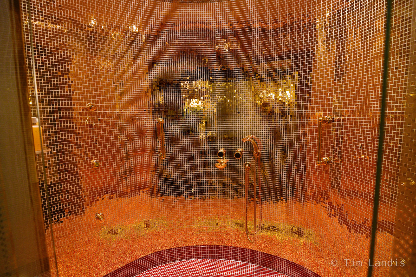 24 Karat wall, shower, photo
